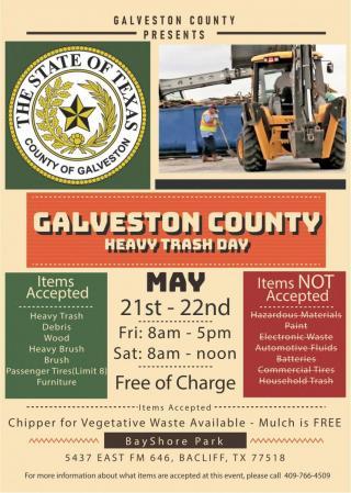 Galveston County heavy trash day flier
